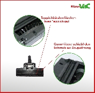 MisterVac Brosse de sol – brosse Turbo compatible avec Bosch BGS5SIL66 Relexx x ProSilence 66 image 2
