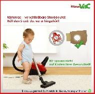 MisterVac 10x Dustbag suitable Siemens Super 2300 electronic image 3