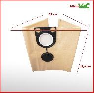 MisterVac 5x Dustbag suitable KRESS 1200 NTS 20 EA image 2