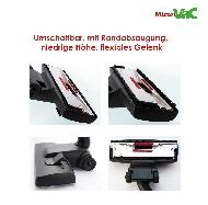 MisterVac Brosse de sol avec dispositif d'encliquetage compatible avec Siemens VSZ 42223/01 paquet specialist image 2