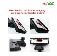 MisterVac Floor-nozzle Einrastdüse suitable for Siemens VS63A00/04-06 silver class image 2