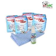MisterVac 1x 2kg TeppichClean Teppich Reinigungspulver + Microfasertuch und FleckWeg image 1