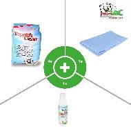MisterVac 1x 2kg TeppichClean Teppich Reinigungspulver + Microfasertuch und FleckWeg image 2