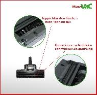 MisterVac Brosse de sol – brosse Turbo compatible avec Asgatec NT 1400 Inox image 2