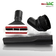 MisterVac Set de brosses compatible avec Numatic Henry HVR 204 Turbo image 1