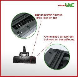 Bodendüse Turbodüse Turbobürste geeignet für Hanseatic VC-T4020E-1 Detailbild 1