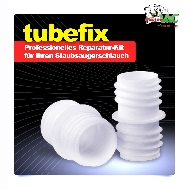 MisterVac TubeFix Reparaturset passend geeignet für Ihren Bestron AGB200YB Schlauch image 2