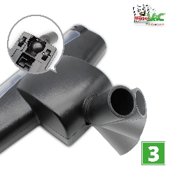 Bodendüse Turbodüse Turbobürste geeignet für Bosch BGS6225GB Detailbild 3