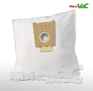 MisterVac 10x Dustbag suitable Siemens VS55A88/02-06 silver & soft 1800w image 1