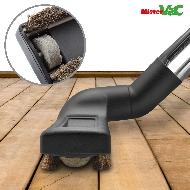 MisterVac boquilla de suelo, boquilla a cepillo, boquilla de parquet adecuadas para Dirt Devil EQU Turbo Silence M 5080 image 2
