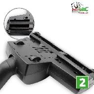 MisterVac Brosse de sol – brosse Turbo compatible avec Dirt Devil EQU Turbo Silence M 5080 image 3