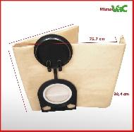 MisterVac 10 x Bolsa de aspiradora adecuada para EIBENSTOCK Industrie Sauger SS1200 image 2
