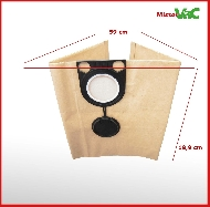 MisterVac Dustbag suitable for KRESS 1200 NTS 20 EA image 2