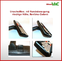 Bodendüse umschaltbar geeignet für Miele S 346 i Soft Satin Detailbild 1
