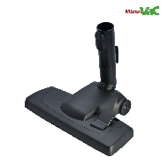 MisterVac Floor-nozzle Einrastdüse suitable for Siemens VS63A00/04-06 silver class image 3