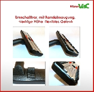 MisterVac Brosse de sol réglable double fonction compatible avec Electrolux-Lux Z317 image 2