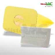 MisterVac 10x Staubsaugerbeutel + Hygienefilter geeignet für Electrolux D710 image 1