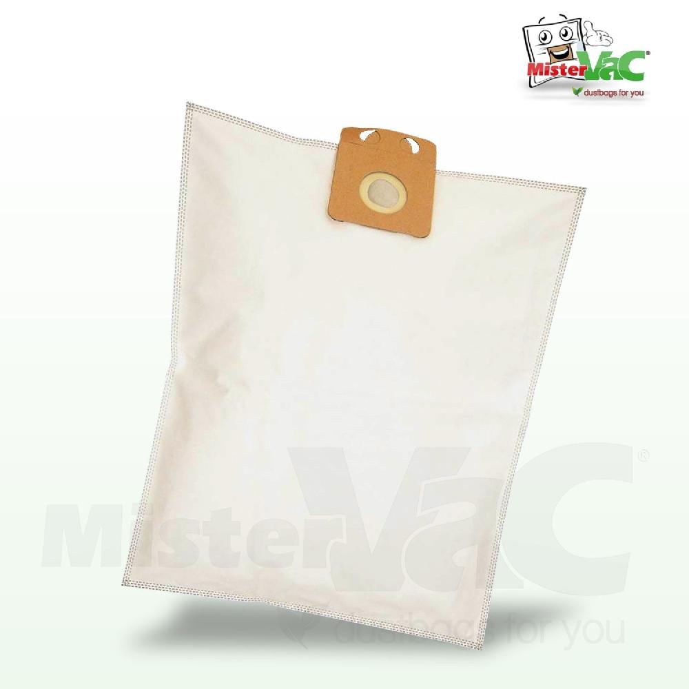 10x Staubsaugerbeutel Papier für Plus Punkt NTS 1400 NTS1400