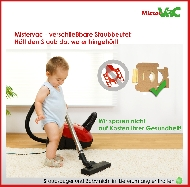 MisterVac bolsas de polvo kompatibel mit AEG Vampyr CEPW24TRE 700W image 3