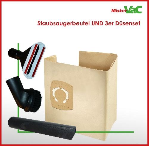 10x Staubsaugerbeutel + Düsenset geeignet Work Zone WZ-NTS 30A