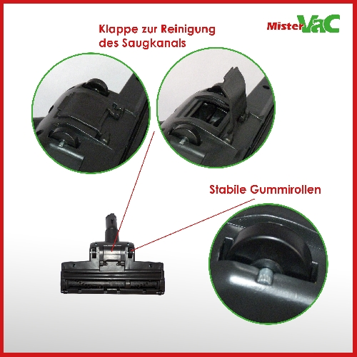 Universal-Besendüse Bodendüse geeignet AEG VX6-1-IW-5 X Force