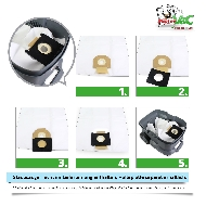 MisterVac Staubsaugerbeutel kompatibel mit PROTOOL VCP 450 E-L-M image 3
