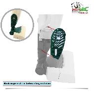 MisterVac Hygienefilter Gitter-Abdeckung-Beutel kompatibel mit Vorwerk Kobold 135,136 image 3