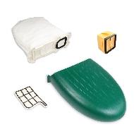 MisterVac Kassette Staubbehälter Filter Beutel kompatibel mit Vorwerk Kobold VK136 image 1