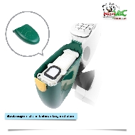 MisterVac Kassette Staubbehälter Filter Beutel kompatibel mit Vorwerk Kobold VK136 image 3